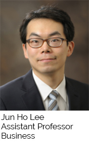 Jun Ho Lee, Assistant Professor, Business