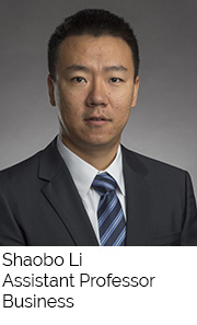 Shaobo Li, Assistant Professor, Business