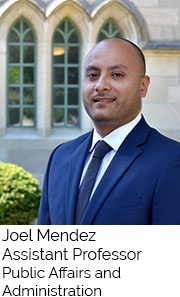 Joel Mendez, Assistant Professor, Public Affairs and Administration