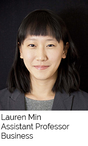 Lauren Min, Assistant Professor, School of Business