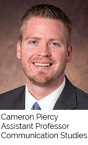 Cameron Piercy, Assistant Professor, Communication Studies