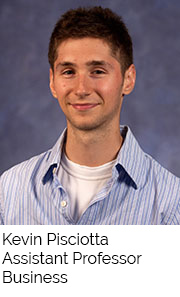Kevin Pisciotta, Assistant Professor, Business