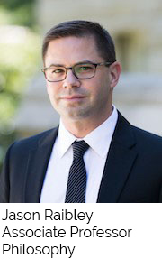 Jason Raibley, Associate Professor, Philosophy