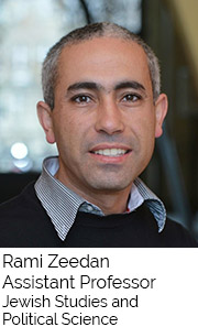 Rami Zeedan, Assistant Professor, Jewish Studies and Political Science